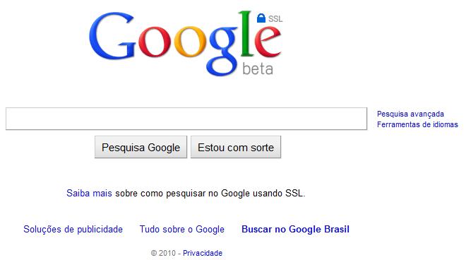 Privacidade nas buscas com Google