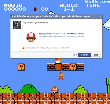 Mario no Facebook