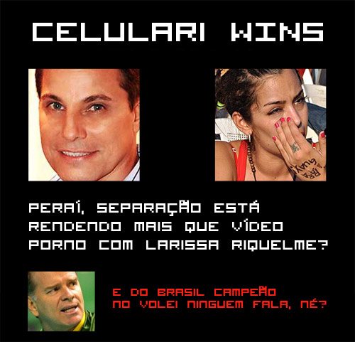 Edson Celulari vence Larissa Riquelme