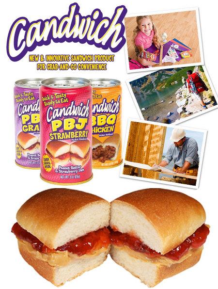 candwich, o sanduíche em lata